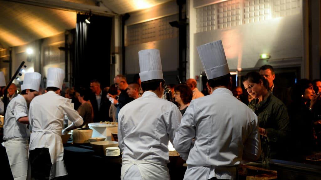 Cocktail dînatoire Show Cooking- Grégory Coutanceau Traiteur -La Rochelle, Île de Ré, Bordeaux